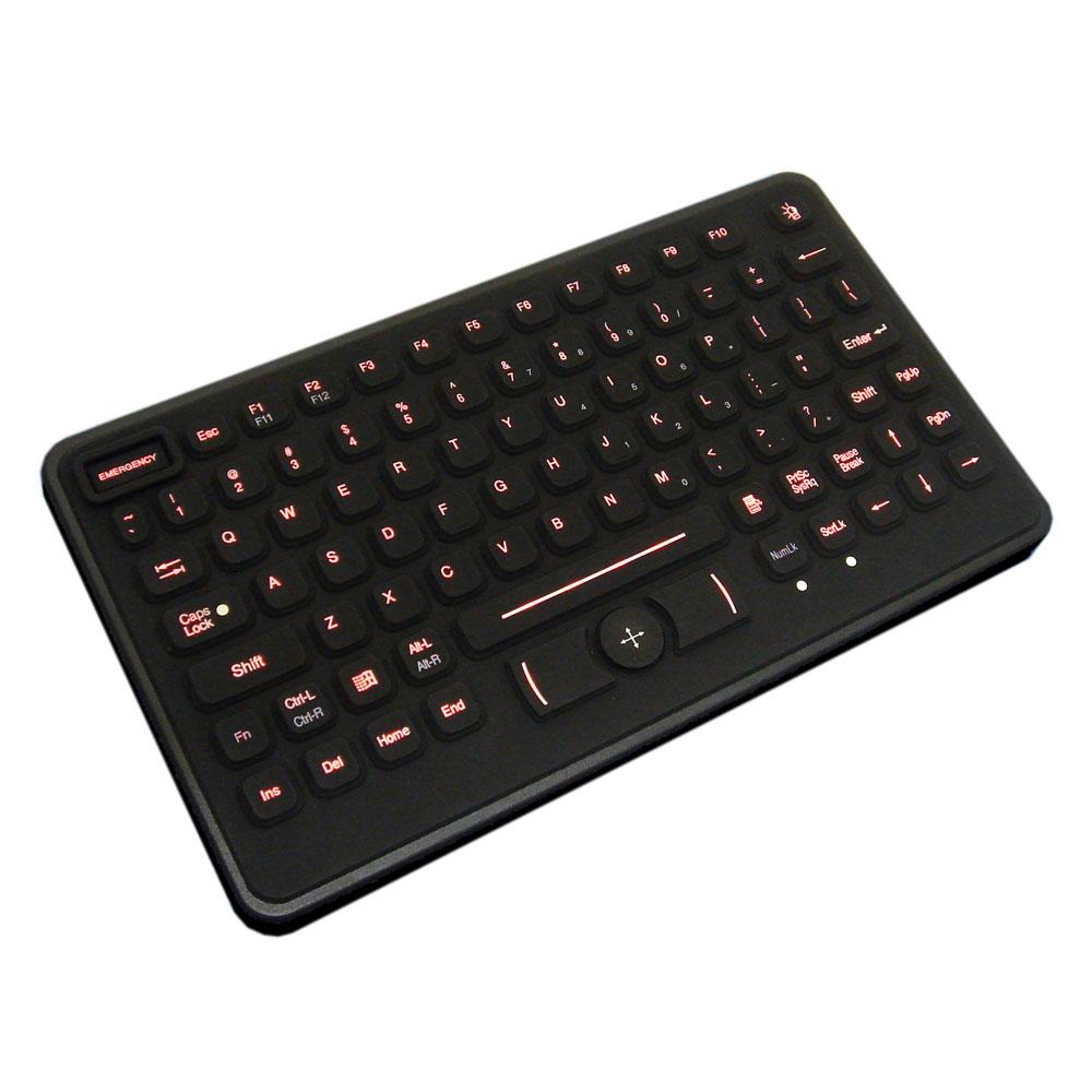 Active Key NEMA4 Waterproof Backlit Keyboard