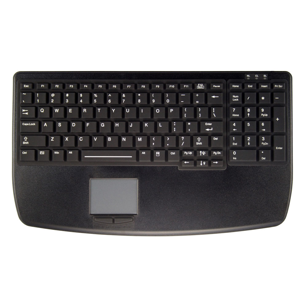 Active AK-B7410-G Key Ultra Flat Backlit Medical keyboard with Touchpad