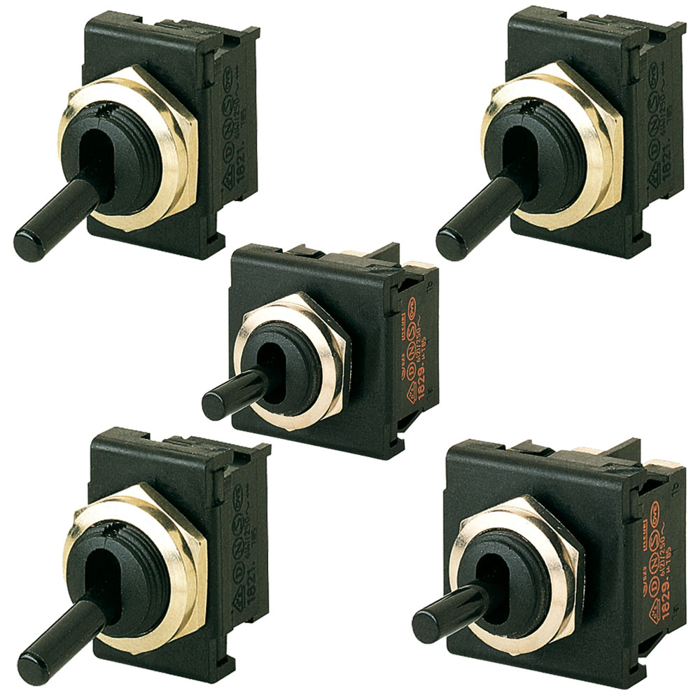 Marquardt Single and Double Pole Toggle Switch Series - 1820
