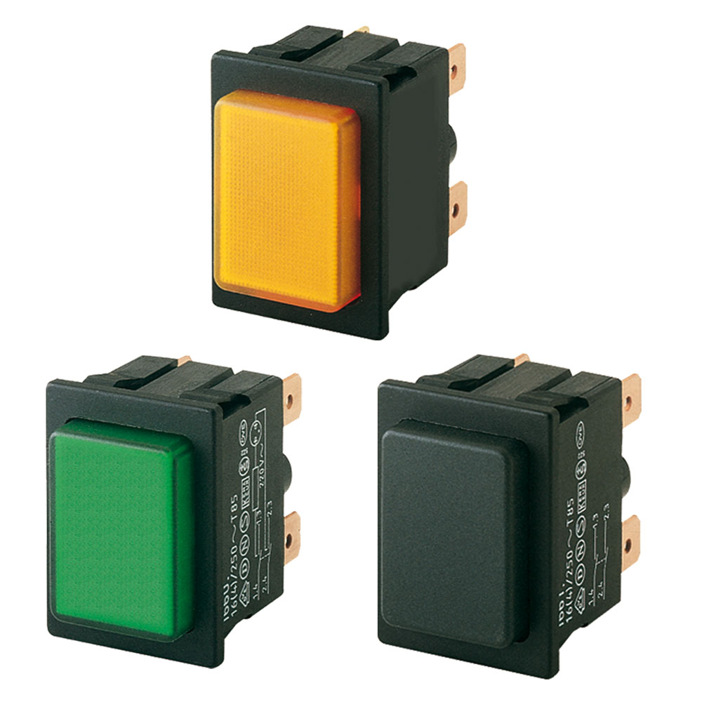 Marquardt Single and Double Pole Push Button Switches- Series 1660