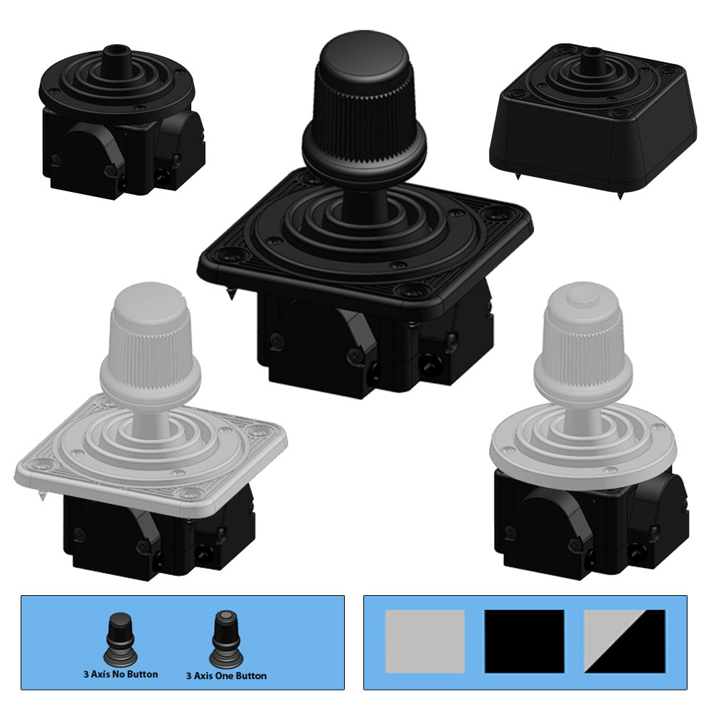 Ruffy MH Slim Z Fingertip Hall Effect Joystick Range
