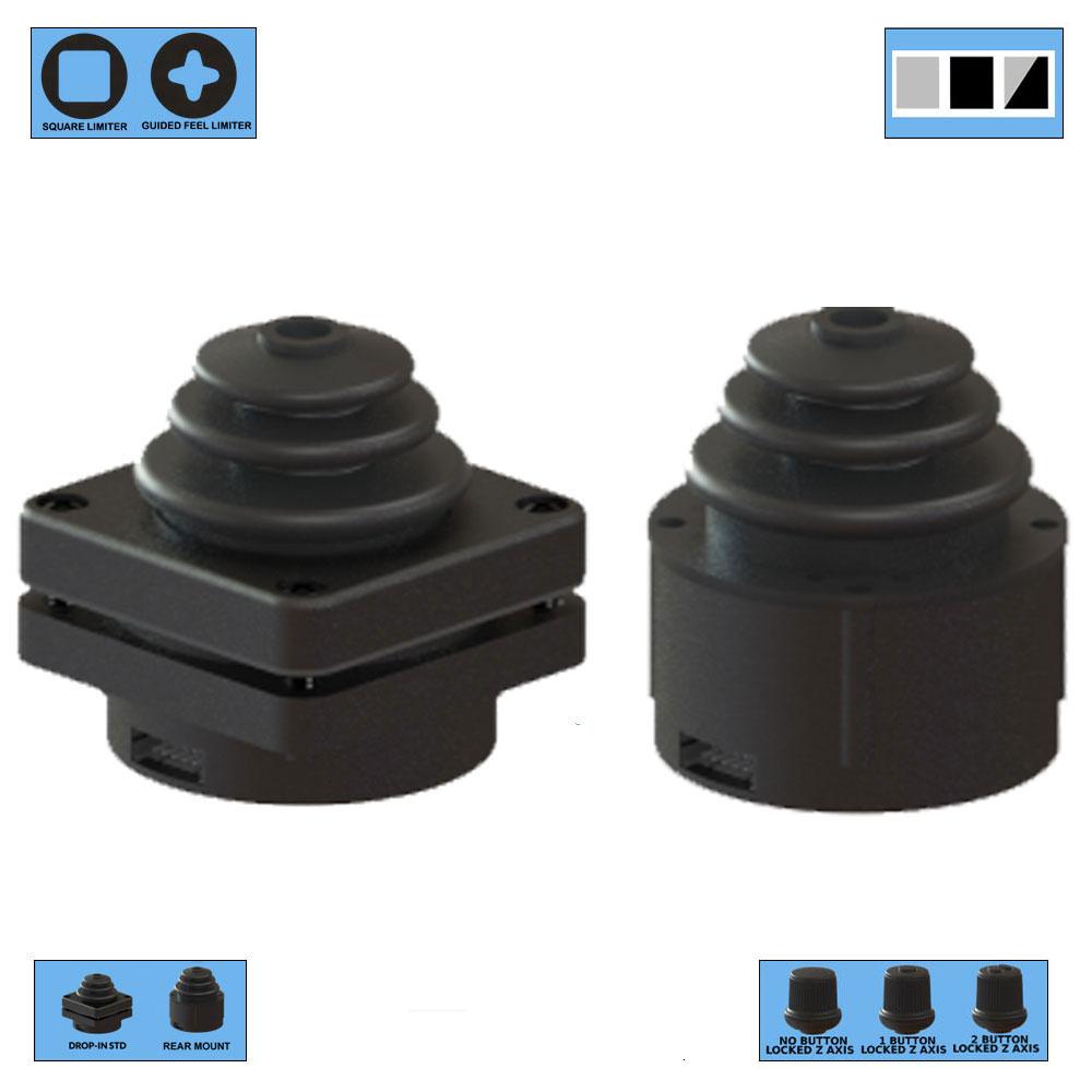 Ruffy HE3 Redundant Sensor, Fully Sealed Multi-Axis Hall Effect Joystick 3 Axis Range