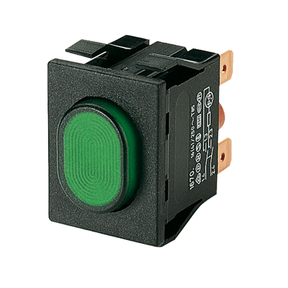 Marquardt Double Pole Push Button Switches - Series 1670