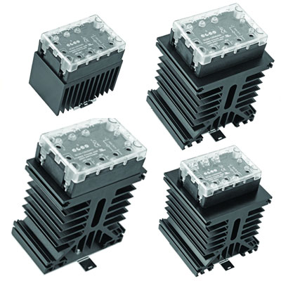 Elco 3 Phase Solid State Relay with Heat Sink - SC3H-12D Series