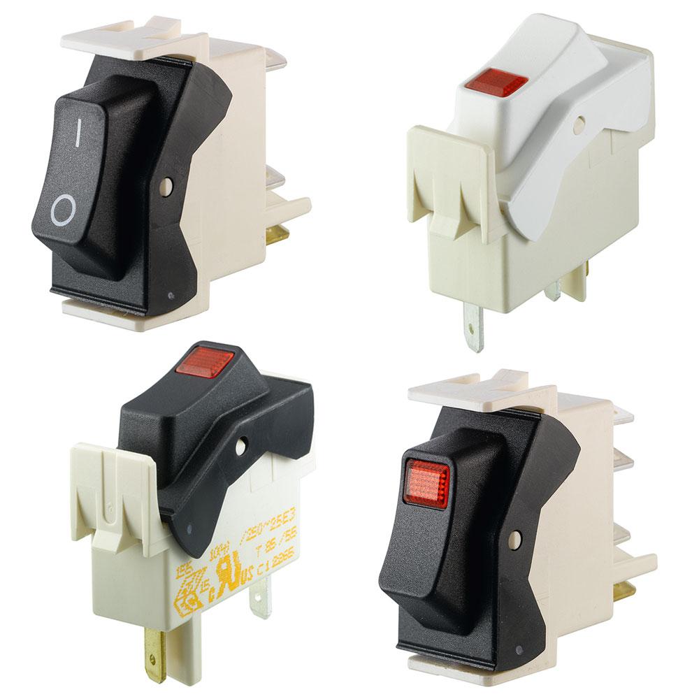 Marquardt 1 Pole Rocker Switches - Series 1550 ECO