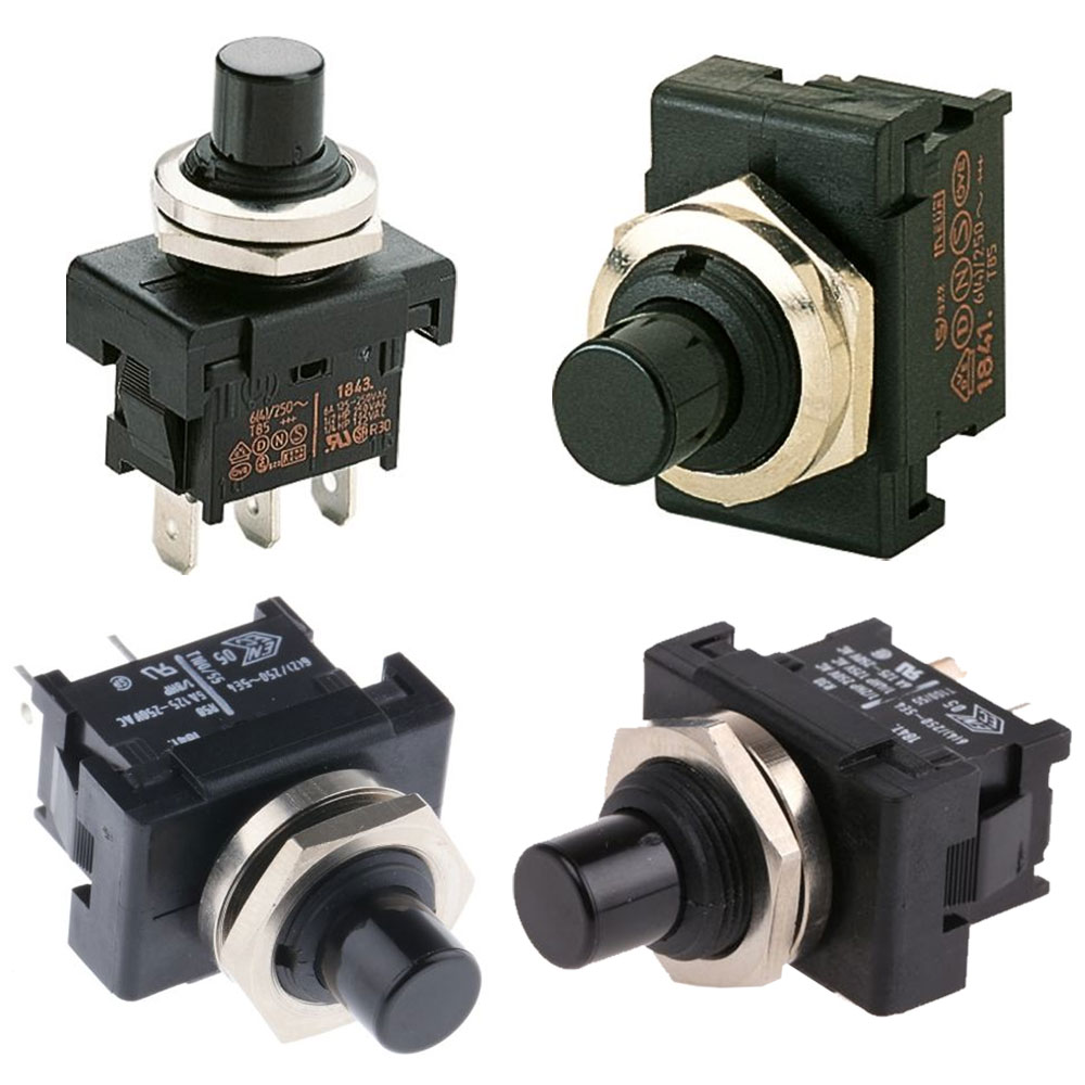 Marquardt Single & Double Pole Pushbutton Switches - Series 1840
